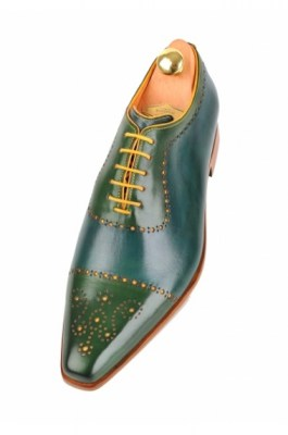 Bicolor handpainted oxfords blue-yellow-green 116-07 pic34